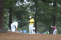 Hideki Matsuyama (JPN) on the 15th fairway during the final round at the The Masters , Augusta National, Augusta, Georgia, USA. 14/04/2019.<br /> Picture Fran Caffrey / Golffile.ie<br /> <br /> All photo usage must carry mandatory copyright credit (© Golffile | Fran Caffrey)