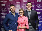 """James McArdle, Denise Gough and Lee Pace attends The American Associates of the National Theatre's Gala celebrating Tony Kushner's """"Angels in America"""" on March 11, 2018 at the Ziegfeld Ballroom,  in New York City."""