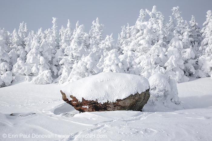 The summit of Mount Osceola in the White Mountains, New Hampshire USA during the winter months.