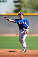 Texas Rangers Anderson Tejeda (48) during an Instructional League game against the Cincinnati Reds on October 4, 2016 at the Surprise Stadium Complex in Surprise, Arizona.  (Mike Janes/Four Seam Images)
