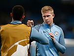 Kevin De Bruyne of Manchester City warms up before the Champions League Group F match at the Emirates Stadium, Manchester. Picture date: September 26th 2017. Picture credit should read: Andrew Yates/Sportimage