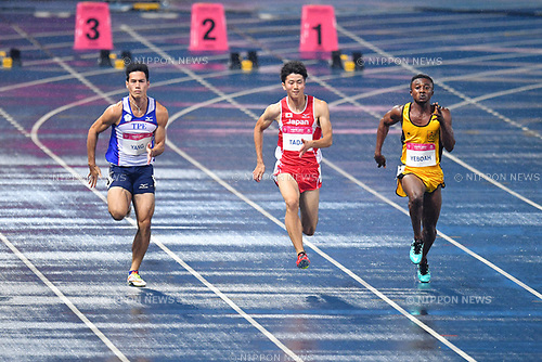 Shuhei Tada (JPN), <br /> AUGUST 24, 2017 - Athletics<br /> : The 29th Summer Universiade 2017 Taipei <br /> Men's 100m Semi-finals <br /> at Taipei Stadium, Taipei, <br /> Taiwan. (Photo by MATSUO.K/AFLO SPORT)