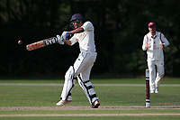 Kishen Velani in batting action for Wanstead during Brentwood CC vs Wanstead and Snaresbrook CC, Essex Cricket League Cricket at The Old County Ground on 12th September 2020