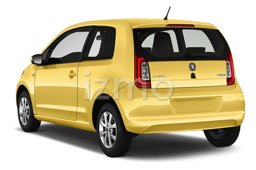 Car pictures of rear three quarter view of 2016 Skoda Citigo Ambition 3 Door hatchback Angular Rear