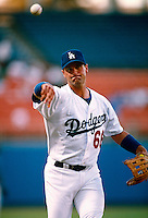 Paul Konerko of the Los Angeles Dodgers during a game at Dodger Stadium in Los Angeles, California during the 1997 season.(Larry Goren/Four Seam Images)