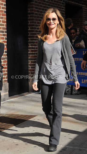 WWW.ACEPIXS.COM . . . . .  ....October 2 2008, New York City....Actress Calista Flockhart made an appearance at  the 'Late Show with David Letterman' at the Ed Sullivan Theatre on October 2, 2008 in New York City, New York.....Please byline: KRISTIN CALLAHAN - ACEPIXS.COM.... *** ***..Ace Pictures, Inc:  ..te: (646) 769 0430..e-mail: info@acepixs.com..web: http://www.acepixs.com