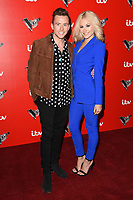 Danny Jones &amp; Pixie Lott at The Voice Kids photocall at Madame Tussauds, London, UK. <br /> 06 June  2017<br /> Picture: Steve Vas/Featureflash/SilverHub 0208 004 5359 sales@silverhubmedia.com