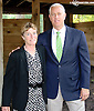 Sharon Gunther and Todd Pletcher before The Delaware Handicap (gr 1) at Delaware Park on 7/12/14
