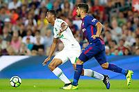 FC Barcelona's Luis Suarez (r) and Chapecoense's Luiz Otavio during Joan Gamper Trophy. August 7,2017. (ALTERPHOTOS/Acero) /NortePhoto.com