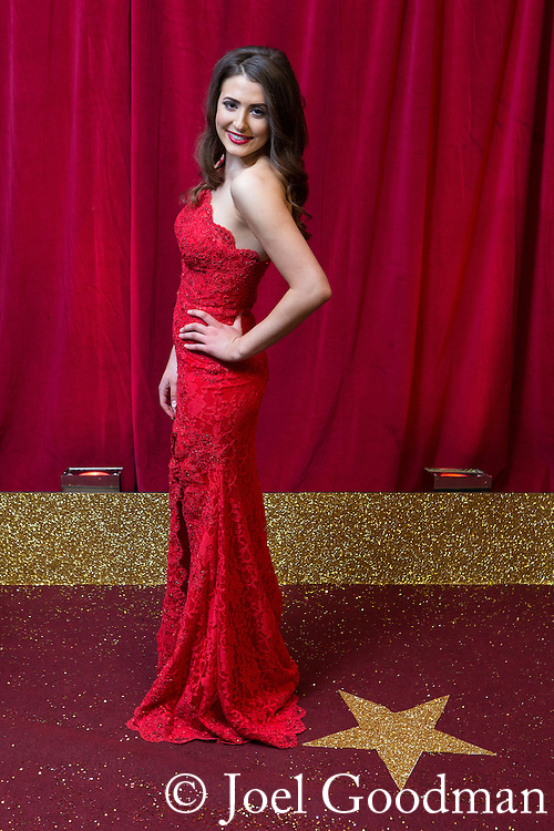 © Licensed to London News Pictures . 16/05/2015 .  The Palace Hotel , Manchester , UK . Jasmine Armfield . The red carpet at the 2015 British Soap Awards , The Palace Hotel , Oxford Road , Manchester . Photo credit : Joel Goodman/LNP