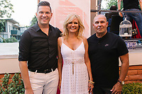 Hank Stampfl, Leesa Rowland, and Joey Santos attend Animal Ashram L.A. Cocktails and Conversation in Los Angeles, California on August 13, 2018 (Photo by Jason Sean Weiss / Guest of a Guest)