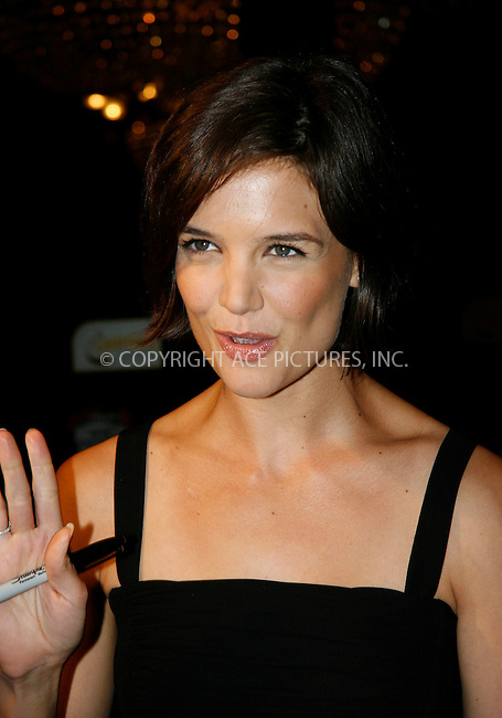 WWW.ACEPIXS.COM . . . . .  ....July 16 2007, New York City....Actress Katie Holmes leaves the premiere of 'Hairspray' at the Zeigfeld Theatre in midtown Manhattan.....Please byline: NANCY RIVERA- ACE PICTURES.... *** ***..Ace Pictures, Inc:  ..tel: (646) 769 0430..e-mail: info@acepixs.com..web: http://www.acepixs.com