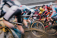 charging off (the race start)<br /> <br /> Superprestige cyclocross Hoogstraten 2019 (BEL)<br /> Elite Men's Race<br /> <br /> &copy;kramon
