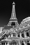 Vegas Architecture - Eiffel Tower at the Paris Casino/Hotel, Las Vegas, Nevada. Photographed by Alan Mahood.