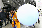 A cosplayer as character of Goku from Dragon Ball, poses for a photograph during the AnimeJapan 2017 at Tokyo Big Sight on March 25, 2017, Tokyo, Japan. AnimeJapan 2017 is a trade show promoting ''Everything Anime'' to local and foreign fans and businesses. The show is held over four-day days with March 23-24 reserved for business visitors and March 25-26 for the public. It is expected to attract some 120,000 visitors, including cosplayers. (Photo by Rodrigo Reyes Marin/AFLO)
