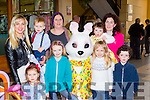 Meetingthe Easter bunny at the Killarney outlet Centre on Sunday were Girmente, Dominick, and artmante plotmikova, Sarah O'Brien, Feithleann somers, Isabella leen , Susan, Charlie and Katie Foley