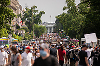 Thousands of protesters line the streets in front of the White House during a march against police brutality and racism in Washington, D.C. on Saturday, June 6, 2020.<br /> Credit: Amanda Andrade-Rhoades / CNP/AdMedia