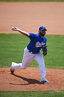 Tulsa Drillers pitcher Juan Gonzalez (38) delivers a pitch during a game against the Midland RockHounds on June 3, 2015 at Oneok Field in Tulsa, Oklahoma.  Midland defeated Tulsa 5-3.  (Mike Janes/Four Seam Images)