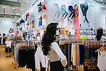 Inside of the store located on the bottom floor of the American Apparel headquarters, which houses the factory in which the apparel is made, as well as offices, in addition to the store, seen in Los Angeles, California February 6, 2015.