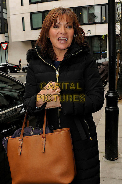 LONDON , ENGLAND - MARCH 11: Lorraine Kelly leaving BBC Radio 2 on March 11th 2014 in London , England<br /> CAP/IA<br /> &copy;Ian Allis/Capital Pictures
