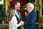 First official act of the Kings Felipe VI and Letizia Ortiz, waving at Luis del Olmo. Royal Palace. Madrid. 06/19/2014. Samuel Roman/Photocall3000