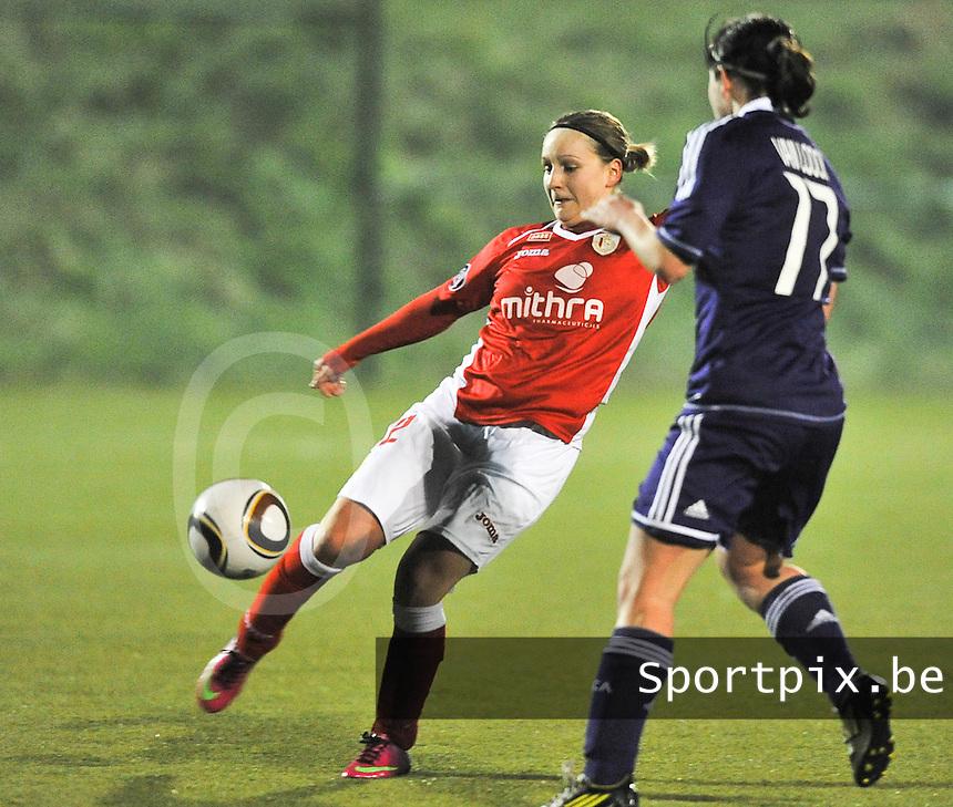 RSC Anderlecht - Standard Femina : Julie Gregoire.foto DAVID CATRY / Vrouwenteam.be