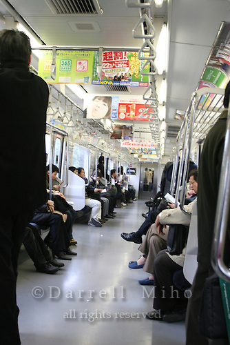 Mar 3, 2006; Tokyo, JPN; Subway train...Photo Credit: Darrell Miho .Copyright © 2006 Darrell Miho .