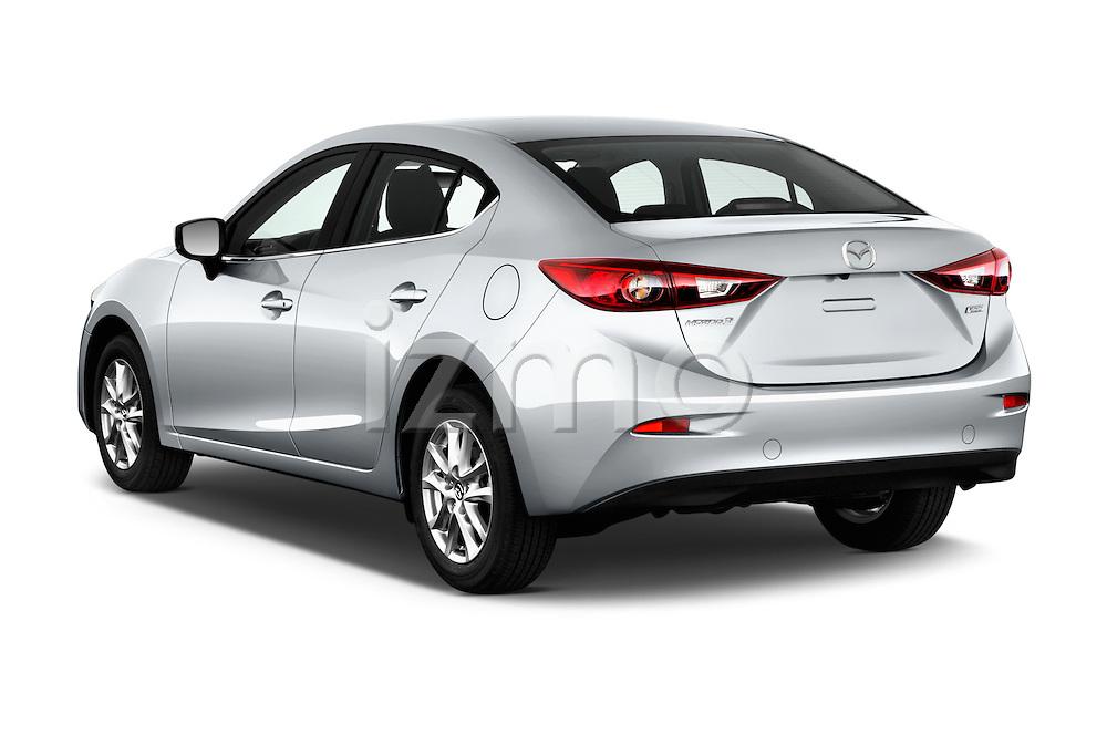 Car pictures of rear three quarter view of 2017 Mazda Mazda3 Sport 4 Door Sedan Angular Rear