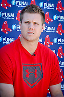 Closing pitcher Jonathan Papelbon speaks to press as the Boston Red Sox return for spring training, Fort Myers, Florida, USA, Feb. 13, 2011. Photo by Debi Pittman Wilkey closing pitcher Jonathan Papelbon