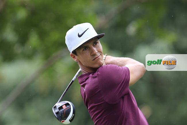 Thorbjorn Olesen (DEN) tees off the 11th tee during Friday's Round 2 of the 2017 PGA Championship held at Quail Hollow Golf Club, Charlotte, North Carolina, USA. 11th August 2017.<br /> Picture: Eoin Clarke | Golffile<br /> <br /> <br /> All photos usage must carry mandatory copyright credit (&copy; Golffile | Eoin Clarke)
