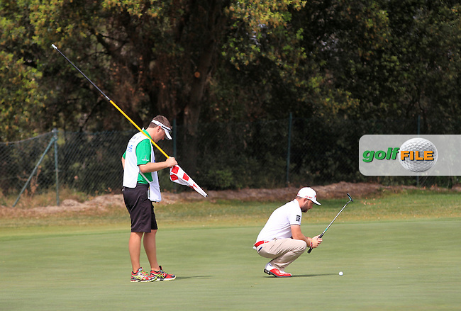 Andy Sullivan (ENG) on the 4th green during the Pro-Am of the Open de Espana  in Club de Golf el Prat, Barcelona on Wednesday 13th May 2015.<br /> Picture:  Thos Caffrey / www.golffile.ie