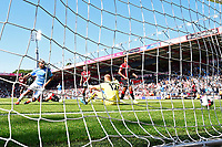 Sergio Aguero of Manchester City left scores the third goal during AFC Bournemouth vs Manchester City, Premier League Football at the Vitality Stadium on 25th August 2019