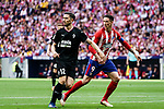 Fernando Torres of Atletico de Madrid (R) in action against Paulo Oliveira of SD Eibar (L) during the La Liga match between Atletico Madrid and Eibar at Wanda Metropolitano Stadium on May 20, 2018 in Madrid, Spain. Photo by Diego Souto / Power Sport Images