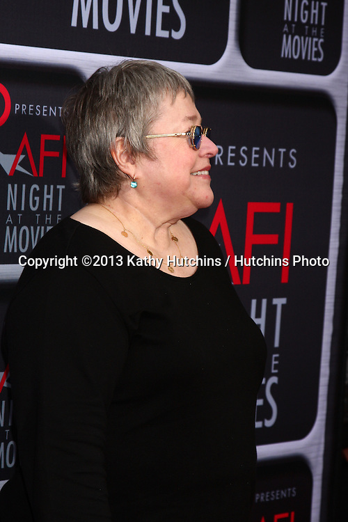 LOS ANGELES - APR 24:  Kathy Bates arrives at the AFI Night at the Movies 2013 at the ArcLight Hollywood Theaters on April 24, 2013 in Los Angeles, CA