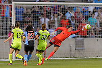 Chicago, IL - Sunday Sept. 04, 2016: Christen Press, Haley Kopmeyer during a regular season National Women's Soccer League (NWSL) match between the Chicago Red Stars and Seattle Reign FC at Toyota Park.