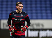 Bolton Wanderers' Ben Williams warming up before the match  <br /> <br /> Photographer Andrew Kearns/CameraSport<br /> <br /> The EFL Sky Bet Championship - Bolton Wanderers v Sheffield Wednesday - Tuesday 12th March 2019 - University of Bolton Stadium - Bolton<br /> <br /> World Copyright © 2019 CameraSport. All rights reserved. 43 Linden Ave. Countesthorpe. Leicester. England. LE8 5PG - Tel: +44 (0) 116 277 4147 - admin@camerasport.com - www.camerasport.com