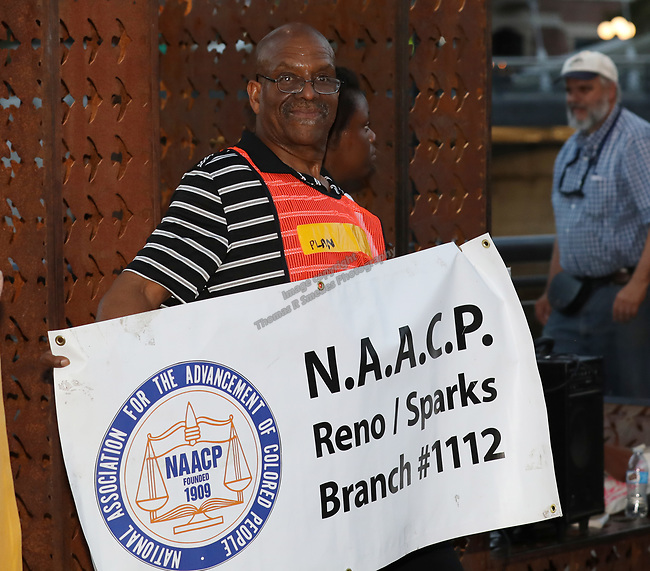 A photograph during the Black Lives Matter March Against Hate in Reno, Nevada on Sunday, August 27, 2017.