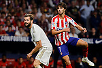 Joao Felix of Atletico de Madrid and Nacho Fernandez of Real Madrid during La Liga match between Atletico de Madrid and Real Madrid at Wanda Metropolitano Stadium{ in Madrid, Spain. {iptcmonthname} 28, 2019. (ALTERPHOTOS/A. Perez Meca)