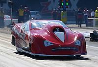 Sep 13, 2013; Charlotte, NC, USA; NHRA pro mod driver Harold Martin during qualifying for the Carolina Nationals at zMax Dragway. Mandatory Credit: Mark J. Rebilas-
