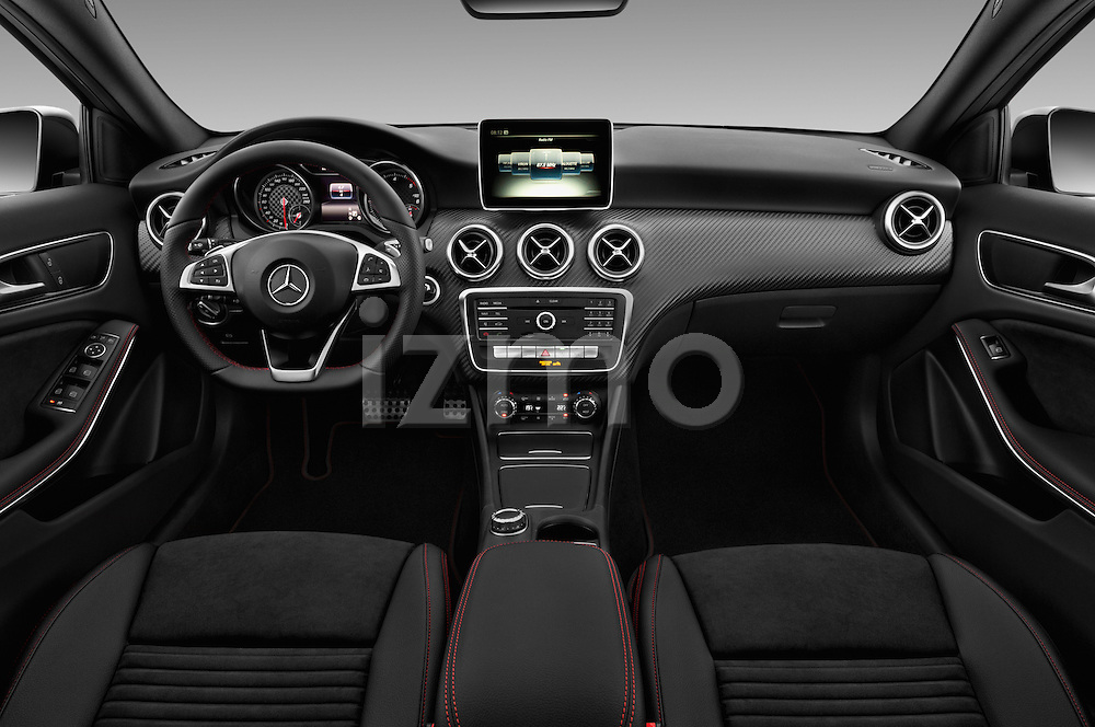 Stock photo of straight dashboard view of 2016 Mercedes Benz A-Class Fascination 5 Door Hatchback Dashboard
