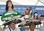 09 June 2006: Two Mexico fans with heavily decorated sombreros. Germany played Costa Rica at the Allianz Arena in Munich, Germany in the opening match, a Group A first round game, of the 2006 FIFA World Cup.