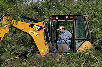 Clearing a small portion of the land on our property here in Central Texas.