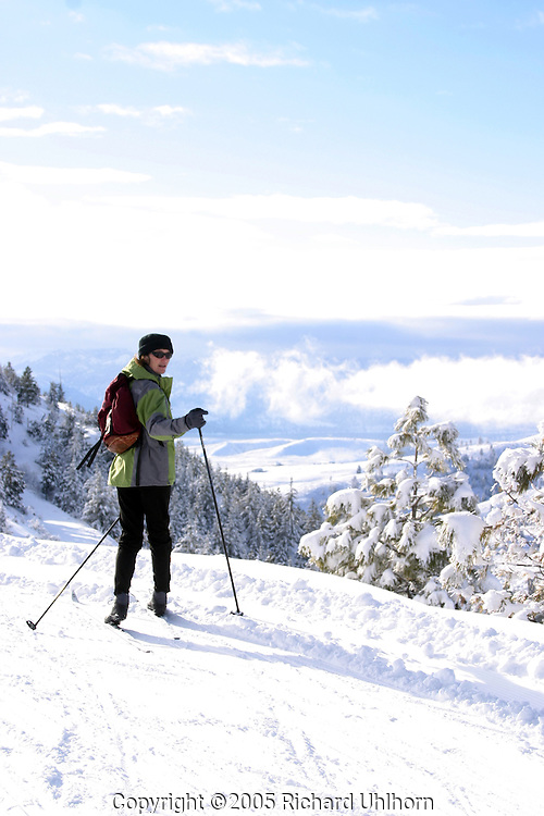 Carmen Andonaegui is a frequent skier at the Echo Ridge Nordic Ski Area in the Lake Chelan drainage. (M/R)