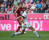 FUSSBALL   1. BUNDESLIGA  SAISON 2012/2013   3. Spieltag FC Bayern Muenchen - FSV Mainz 05     15.09.2012 Xherdan Shaqiri (li, FC Bayern Muenchen) gegen Zdenek Pospech (1. FSV Mainz 05)