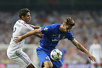 Real Madrid's Vanane and Juventus Llorente