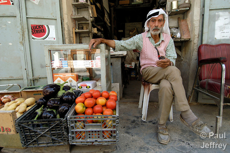 A man in the Nablus market.