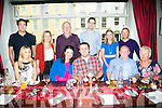 Melissa Costello, Kilmoyley and Stephen McSweeney , Ballymac celebrating their engagement with family and friends at Denny Lane on Saturday night. Front l-r  Elaine Costello, Melissa Costello, Stephen McSweeney, Tim McSweeney and Patricia McSweeney. Back l-r  Myses Olald, Sandy McSweeney, Jim Costello, David Murphy, Anna Marie Costello and Anthony Kennedy
