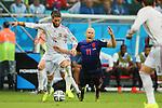 (L to R) <br /> Sergio Ramos (ESP), <br /> Arjen Robben (NED), <br /> JUNE 13, 2014 - Football /Soccer : <br /> 2014 FIFA World Cup Brazil <br /> Group Match -Group B- <br /> between Spain 1-5 Netherlands <br /> at Arena Fonte Nova, Salvador, Brazil. <br /> (Photo by YUTAKA/AFLO SPORT) [1040]