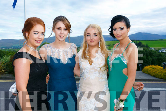 Enjoying the Killarney secondary schools Debs at Ballyroe Heights Hotel on Monday were Michelle O Sullivan, Louise Lanigan, Amy O'Grady,  Courtney Drummond