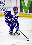 2 February 2020: Holy Cross Crusader Defender Hannah Gillis, a Senior from Northborough, MA, in third period action against the University of Vermont Catamounts at Gutterson Fieldhouse in Burlington, Vermont. The Lady Cats rallied in the 3rd period to tie the Crusaders 2-2 in NCAA Women's Hockey East play. Mandatory Credit: Ed Wolfstein Photo *** RAW (NEF) Image File Available ***
